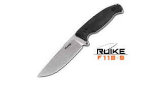 Ruike - F118 - Lamă fixă - Oțel 14C28N - Negru