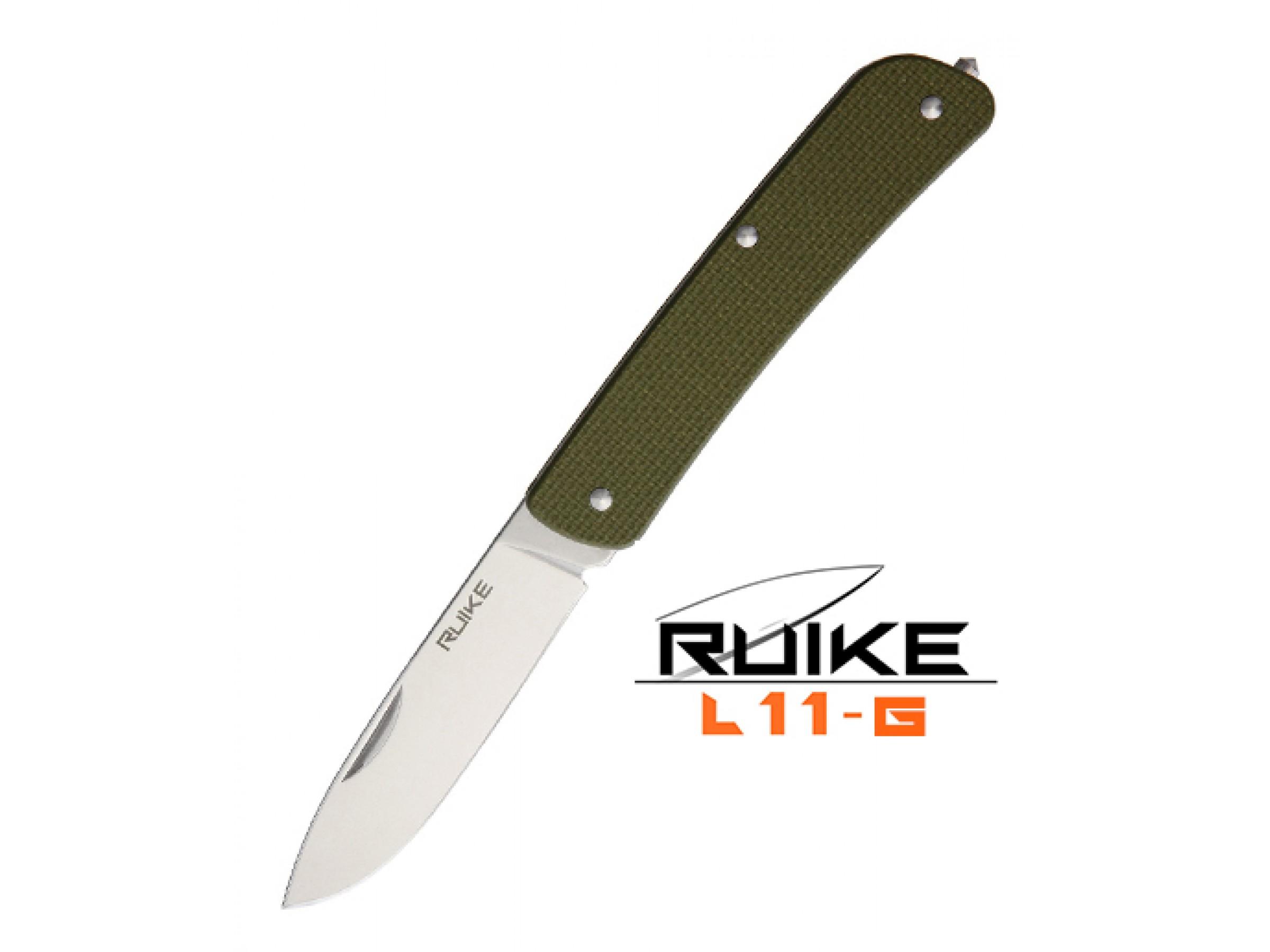 Ruike - L11 - Cuțit multifuncțional - 4 funcții - Oțel 12C27 - Green